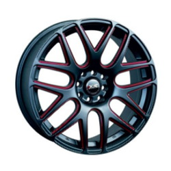 XXR 525 F-Black-Red 17X7 4-100 Wheel