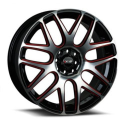 XXR 525 Machined/Bk/Red 16X7 5-114.3 Wheel