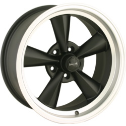 Ridler 675 Matte Black W/ Machined Lip 17X8 5-120.7 Wheel