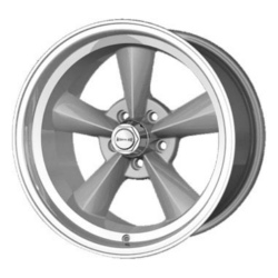 Ridler 675 Silver W/ Machined Lip 17X10 5-114.3 Wheel