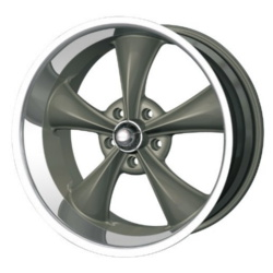 Ridler 695 Grey W/ Machined Lip Wheel