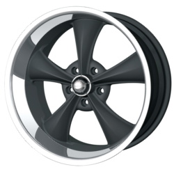 Ridler 695 Matte Black W/ Machined Lip 20X9 5-127 Wheel