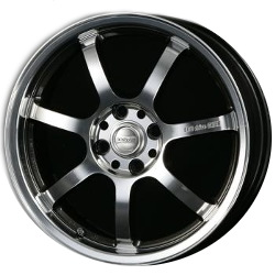 Volk Racing 707 ECO DRIVE Dmc/Diamond Black 16X6 5-100 Wheel