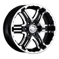 Gear Alloy 713MB DOUBLE PUMP Black 16X8 5-139.7 Wheel