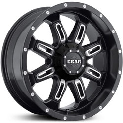 Gear Alloy 725MB Black 18X9 8-165.1 Wheel