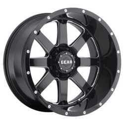 Gear Alloy 726MB Black 20X9 5-139.7 Wheel