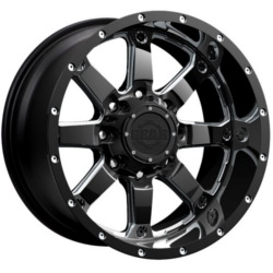 Gear Alloy 726MB RWD Black 20X10 6-135 Wheel