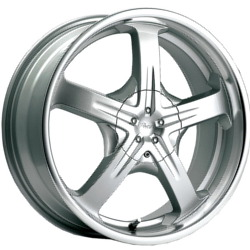 Pacer 774MS RELIANT Silver 17X8 5-100 Wheel