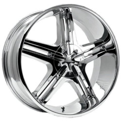 Pacer 778C TAILSPIN FWD Chrome 17X8 5-110 Wheel