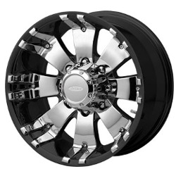 Diamo 8 KARAT Gloss Black Machined 18X9 8-170 Wheel