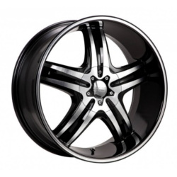 Cruiser Alloy 908MB FWD Black 16X8 5-100 Wheel