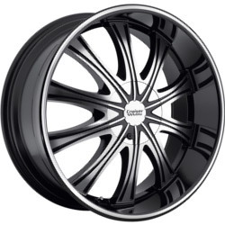 Cruiser Alloy 911MB RWD Black 20X9 5-115 Wheel