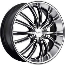 Cruiser Alloy 912MB FWD Black 17X8 5-108 Wheel