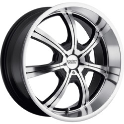 Cruiser Alloy 913MB FWD Black 17X8 5-108 Wheel