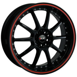 XXR 941 Black/Red 17X7 4-114.3 Wheel