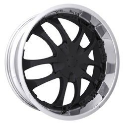 Strada A-ARM Black W/ Machined Lip 20X8 5-108 Wheel