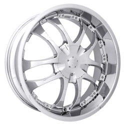 Strada A-ARM Chrome 20X8 5-120 Wheel
