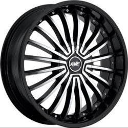 Avenue A602 Gloss Black Machined Face 17X8 5-115 Wheel