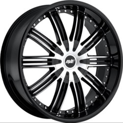 Avenue A603 Gloss Black Machined Face 24X10 5-127 Wheel