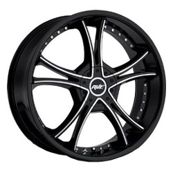 Avenue A604 Gloss Black Machined Face Wheel