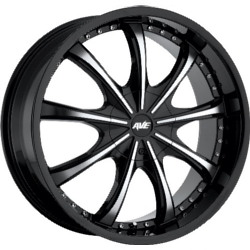 Avenue A605 Gloss Black Machined Face 22X10 5-114.3 Wheel