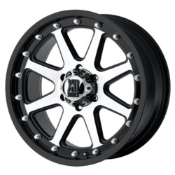 KMC-XD Series ADDICT Matte Black Machined 20X9 8-180 Wheel