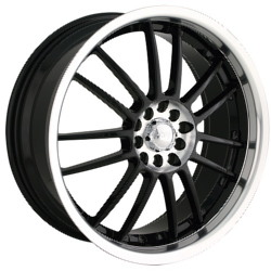 Akita AK-25 Black W/ Machined Face Lip & Hub 18X8 5-114.3 Wheel
