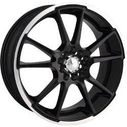 Akita AK-35 Black W/ Machined Lip 18X8 4-114.3 Wheel