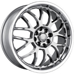Akita AK-6 Hypersilver W/ Machined Lip 18X8 5-114.3 Wheel