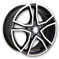 Akita AK-85 Black/Machined 18X8 5-100 Wheel
