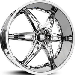 Verde ALLUSION Chrome 24X10 5-115 Wheel