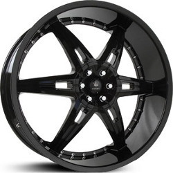 Verde ALLUSION Semi Gloss Black 24X10 5-114.3 Wheel