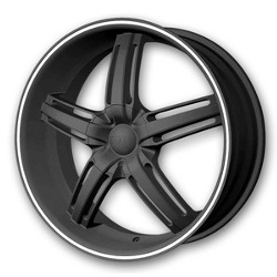 DIP AMBUSH Matte Black/Machined 20X9 5-112 Wheel