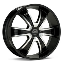 American Racing AR894 Gloss Black With Machined Face 20X9 5-139.7 Wheel