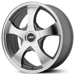 American Racing AR895 Dark Silver W/ Mach Face 15X7 4-108 Wheel