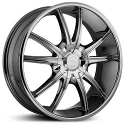 American Racing AR897 Bright Pvd 22X9 5-120 Wheel
