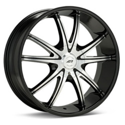 American Racing AR897 Gloss Black With Machined Face 22X9 5-120 Wheel