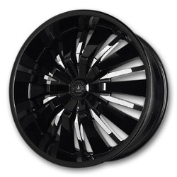 Verde ARCTIC Black W/Chrome Inserts 22X10 5-135 Wheel