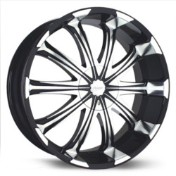Verde AVATAR Black/Machined 22X10 5-127 Wheel