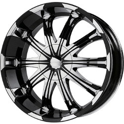 Verde AVATAR Black/chrome 24X10 5-139.7 Wheel
