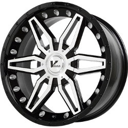 V-Rock AXIAL Gloss Black/Machined 20X9 5-150 Wheel