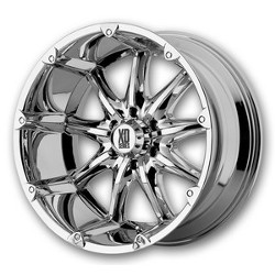 KMC-XD Series BADLANDS Chrome 20X9 8-165.1 Wheel