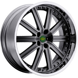 Redbourne BARON Gunmetal Chrome Lip 20X10 5-120 Wheel