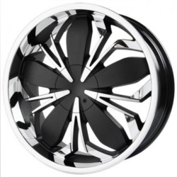 Black Ice BLACK WIDOW Black w/Chrome 22X9 5-108 Wheel