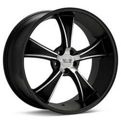 American Racing Hot Rod BLVD Satin Black Machined 17X7 5-120.7 Wheel