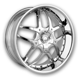 DIP BOOMERANG Chrome 17X7 4-100 Wheel