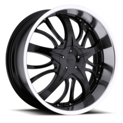 Strada BREZZA Black W/ Machined Lip 20X8 5-100 Wheel