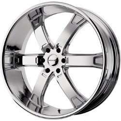 KMC BRODIE Chrome 26X10 6-135 Wheel
