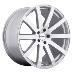 TSW BROOKLANDS Silver W/Mirror Cut Face 19X8 5-100 Wheel