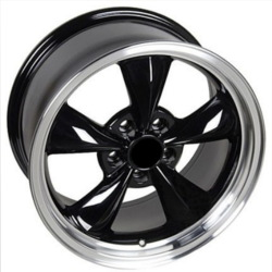 Wheel Replicas BULLET Black/Machined Lip Wheel